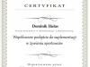 Certyfikat Współczesne podejście do sumplementacji w żywieniu sportowców