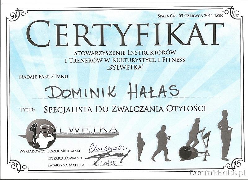Certyfikat Specjalista Do Zwalczania Otyłości