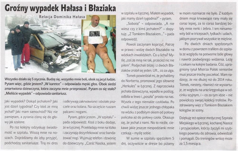 Wypadek Dominika Hałasa